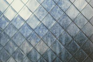 Ceramic glass tile used as kitchen counter backsplash